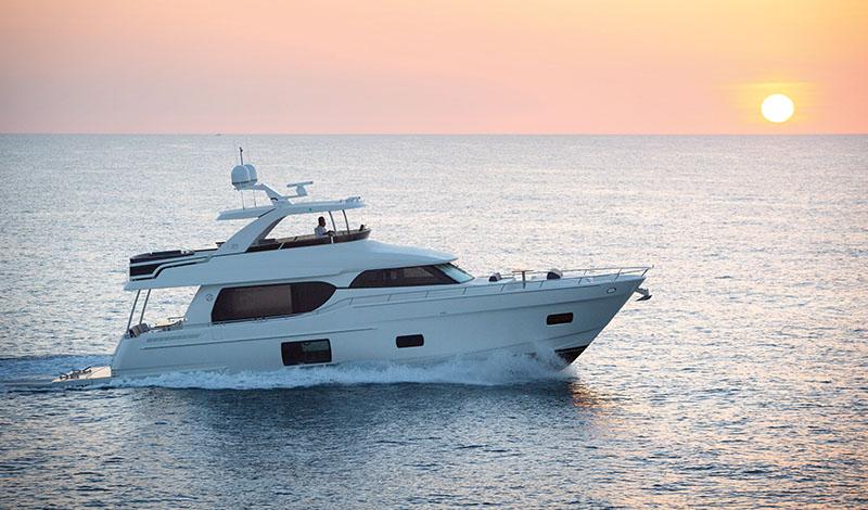 An Ocean Alexander 70e Yacht