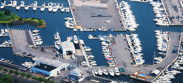boats lined up on docks