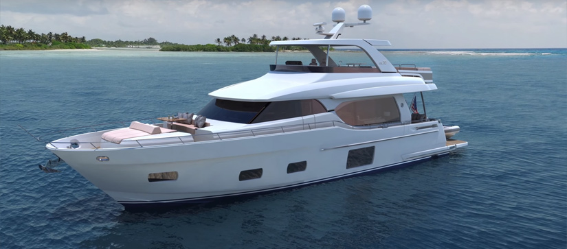 Ocean Alexander 70e rendering during design process